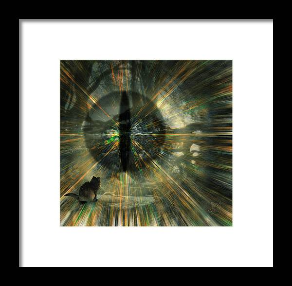 Cat Framed Print featuring the digital art See What I See by Gae Helton