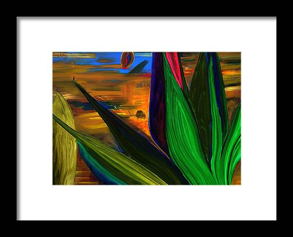 Landscape Framed Print featuring the painting Seeds And Leaves I by Gregory Allen Page