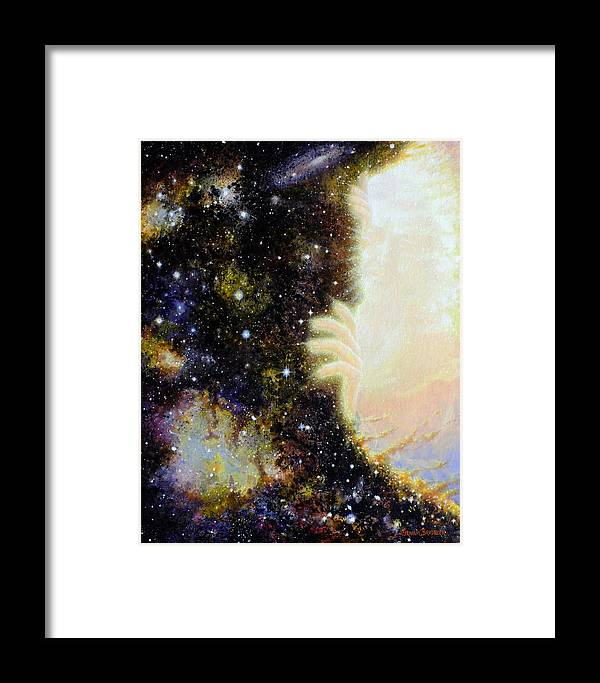God Framed Print featuring the painting Seeing Beyond by Graham Braddock