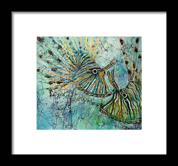 Iionfish Framed Print featuring the painting Seeing Eye To Eye by Midge Pippel