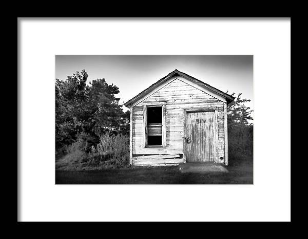 Black And White Framed Print featuring the photograph Seen Better Days by Donald Schwartz