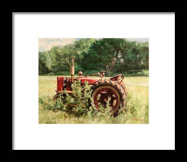Tractor Framed Print featuring the painting Seen Better Days by Robert Tutsky
