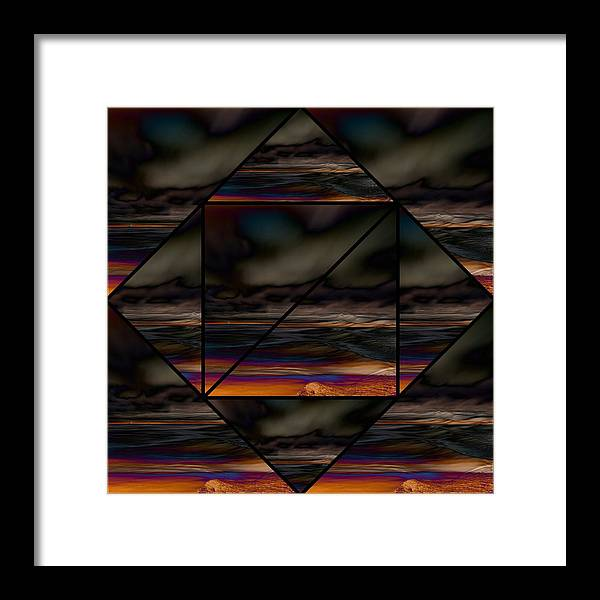 Impressions Framed Print featuring the digital art Seesee by Karo Evans