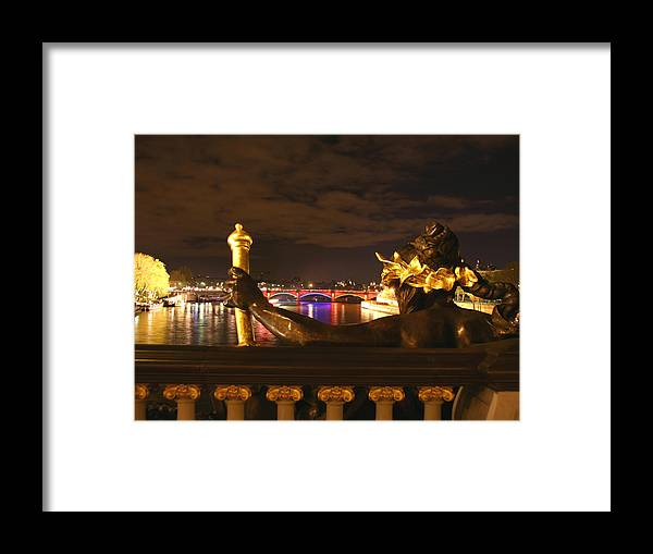 Pont Alexandre Iii Framed Print featuring the photograph Seine By Night by Hans Jankowski