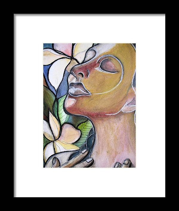 Woman Framed Print featuring the painting Self-healing by Kimberly Kirk