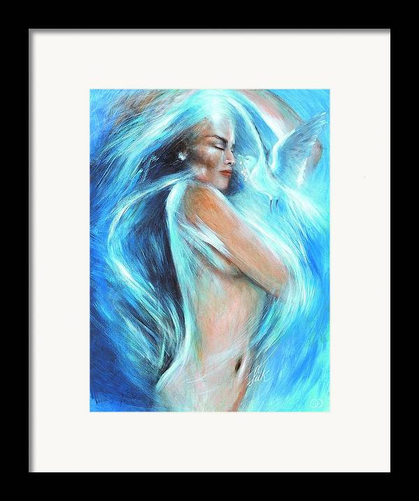 Vision Framed Print featuring the painting Self Love by Elizabeth Silk