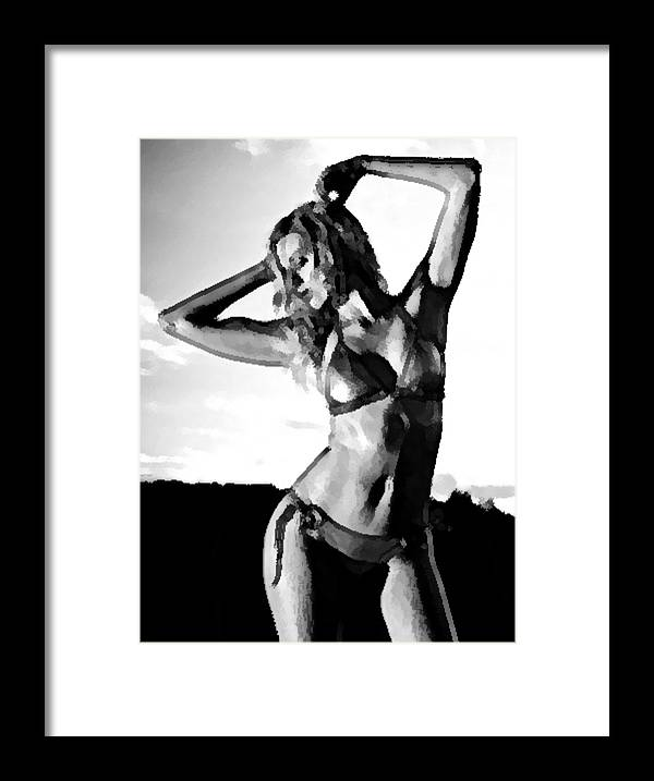 Woman Framed Print featuring the photograph Self-portrait - Raw Emotion by Princess Fabianna