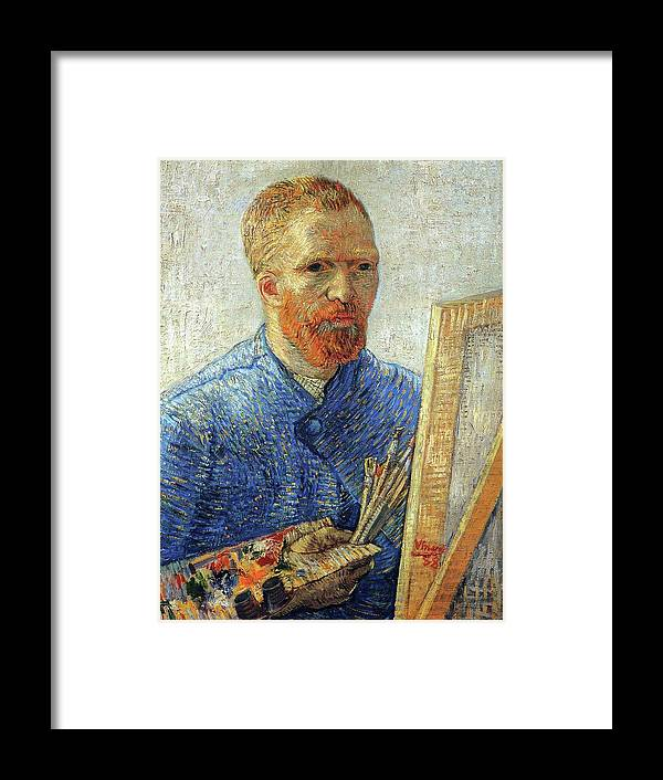 Vincent Van Gogh Framed Print featuring the painting Self Portrait As An Artist by Van Gogh