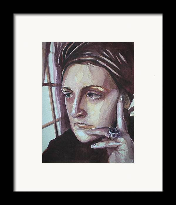 Self-portrait Framed Print featuring the painting Self-portrait At 30 by Aleksandra Buha