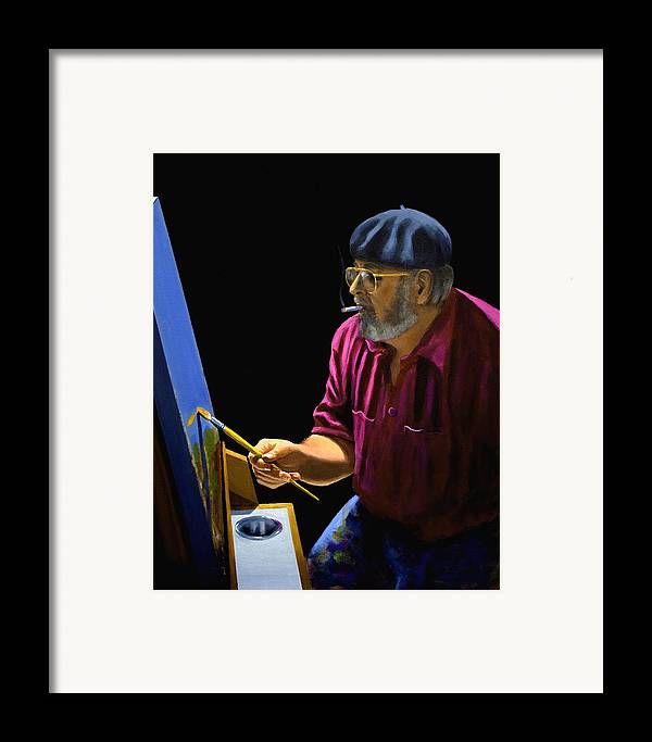 Portrait Framed Print featuring the painting Self Portrait by Brooke Lyman