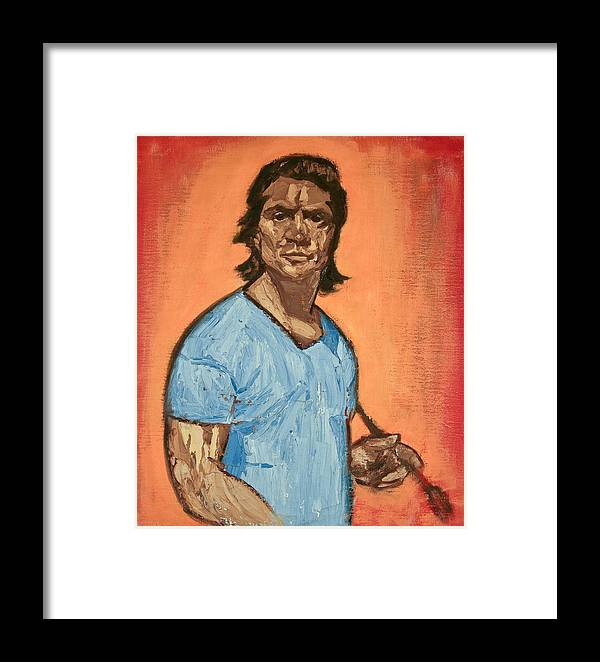 Portrait Framed Print featuring the painting Self Portrait By Victor Herman by Joni Herman