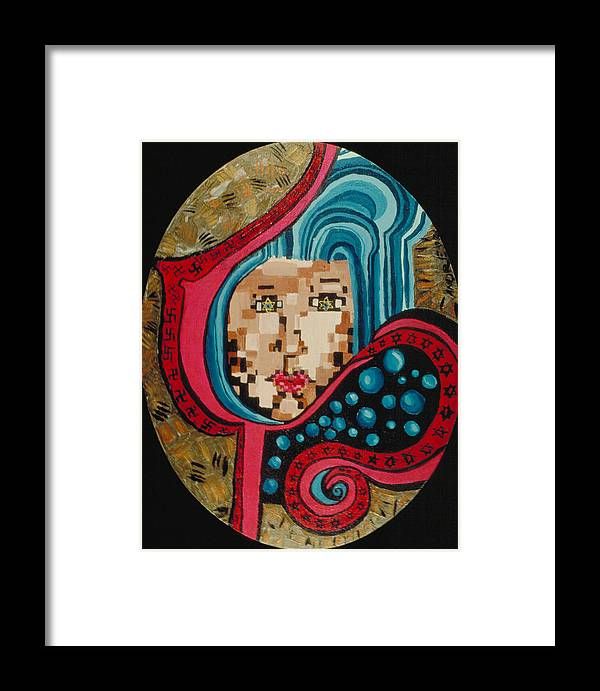 Jandrel Framed Print featuring the painting Self Portrait by J Andrel