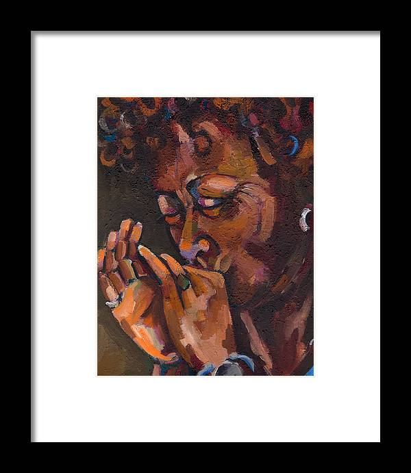 Portrait Framed Print featuring the painting Self Portrait by Jackie Merritt