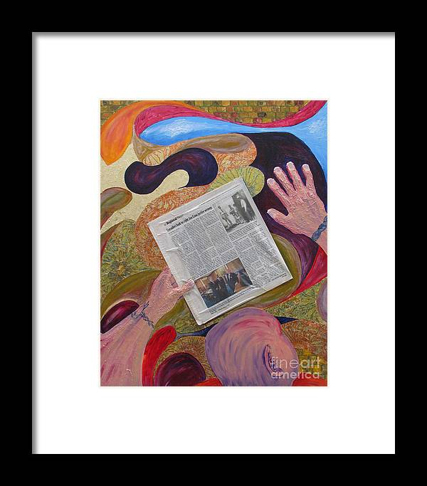 Portrait Prints Framed Print featuring the mixed media Self Portrait Of A Dream by Mark E Smith