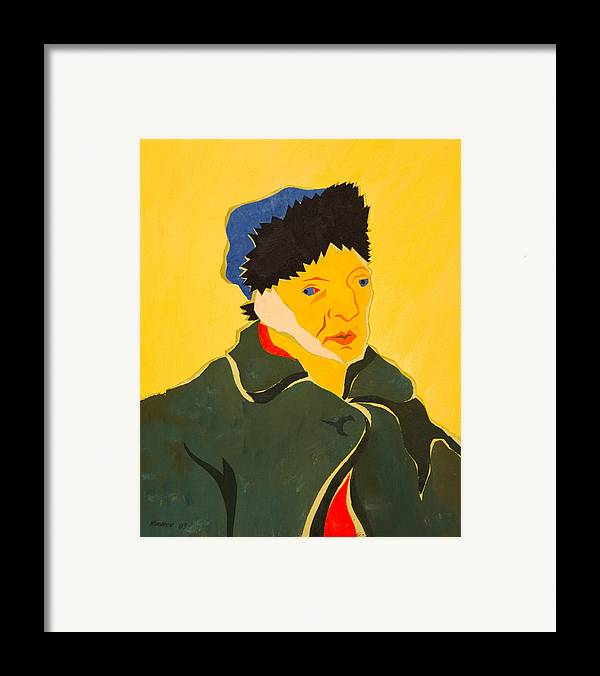 Van Gogh Framed Print featuring the painting Self Portrait With Bandaged Ear. After Vincent Van Gogh by Vitali Komarov