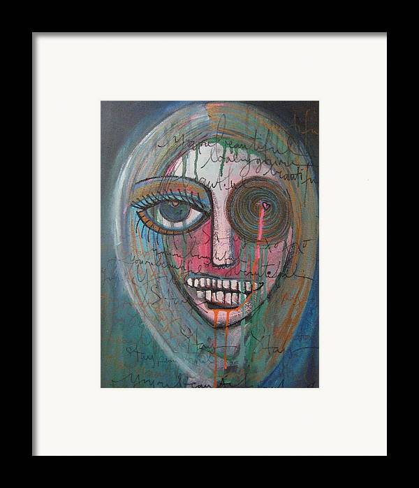 Self Portraits Framed Print featuring the painting Self Portrait Youre Beautiful by Laurie Maves ART