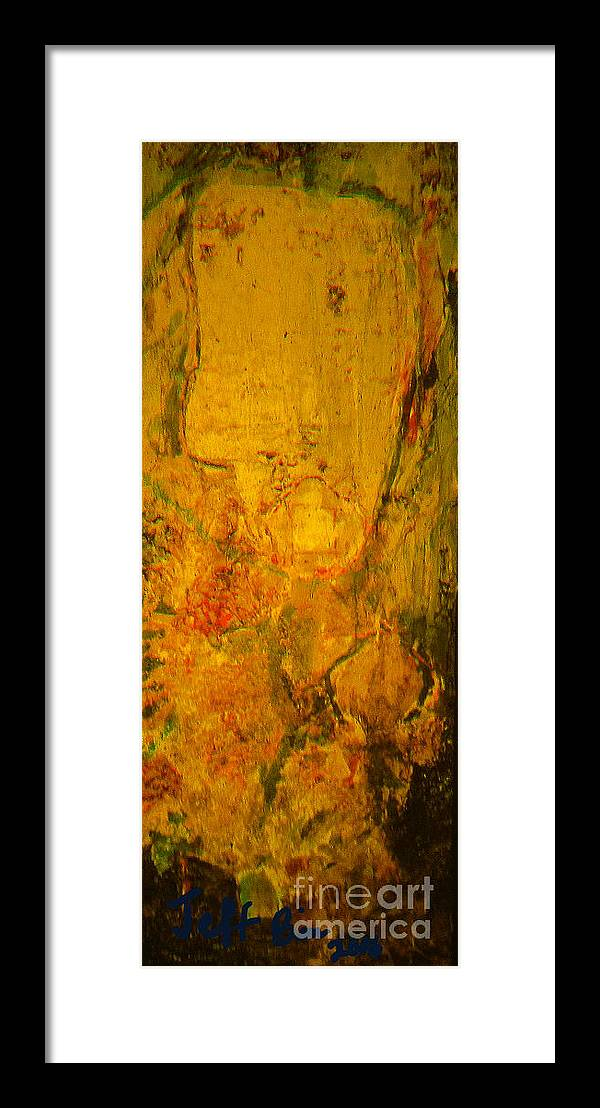 Abstract Framed Print featuring the painting Self Remembering by Jeff Birr