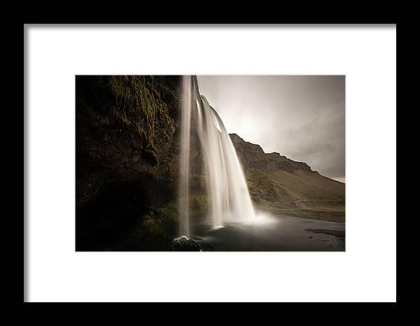 Photo Framed Print featuring the photograph Seljalandsfoss by Ryan Stoddard
