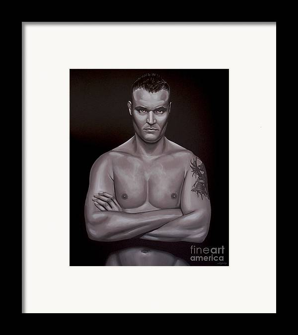 Semmy Schilt Framed Print featuring the painting Semmy Schilt by Paul Meijering