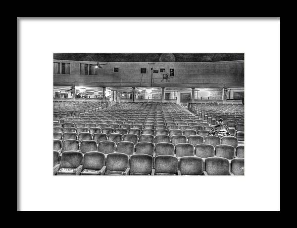 Framed Print featuring the photograph Senate Theatre Seating Detroit MI by Nicholas Grunas