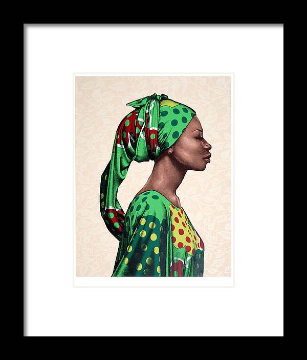 Carla Nickerson Framed Print featuring the print Senegalese Woman by Carla Nickerson