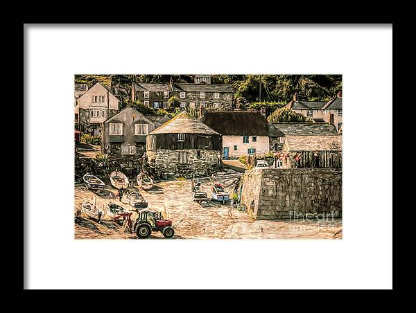 Cornwall Framed Print featuring the mixed media Sennen Cove Cornwall by Linsey Williams