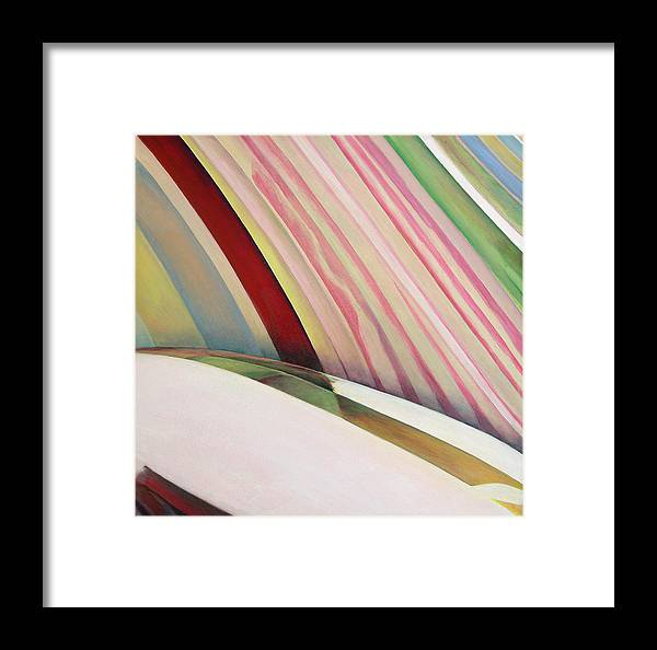 Abstract Framed Print featuring the painting Sens 1 by Muriel Dolemieux