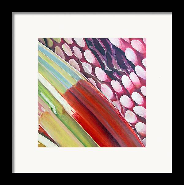 Abstract Framed Print featuring the painting Sens 2 by Muriel Dolemieux