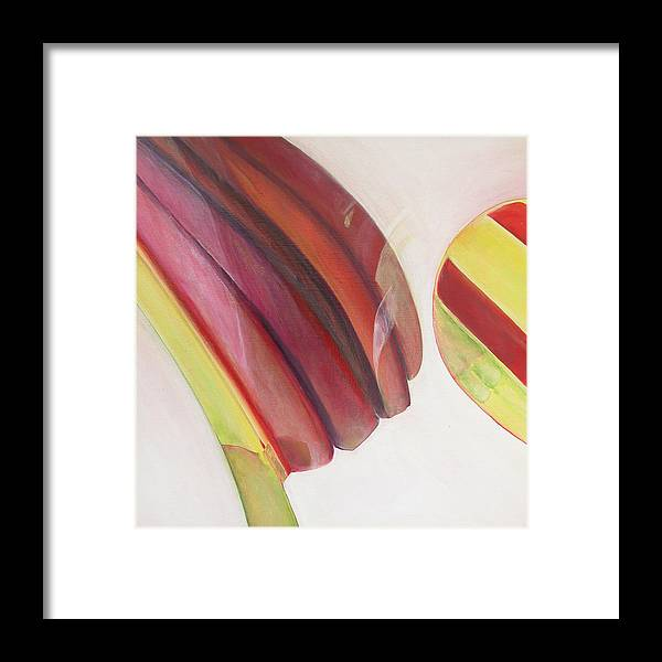 Abstract Framed Print featuring the painting Sens 3 by Muriel Dolemieux