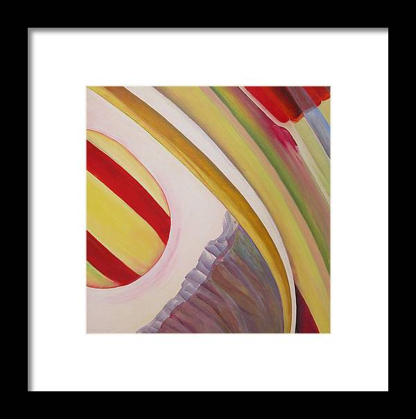 Abstract Framed Print featuring the painting Sens 4 by Muriel Dolemieux