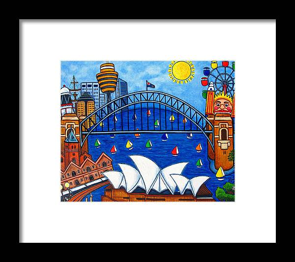 House Framed Print featuring the painting Sensational Sydney by Lisa Lorenz