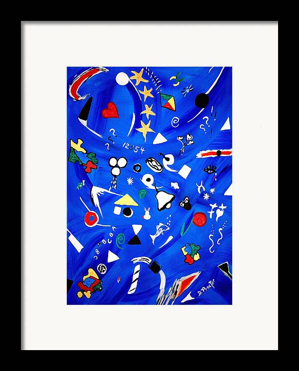 Expressionism Framed Print featuring the painting Sensory Chaos - Autism by Donna Proctor