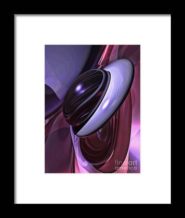 3d Framed Print featuring the digital art Sensual Healing Abstract by Alexander Butler