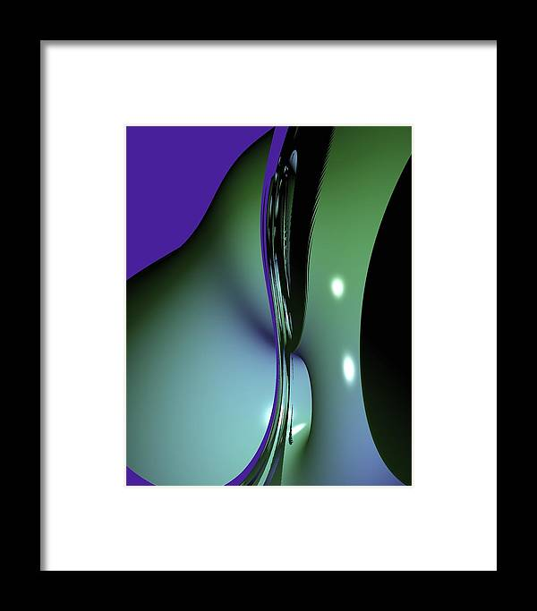 Digital Art Framed Print featuring the digital art sensuoso II by Caren Appel