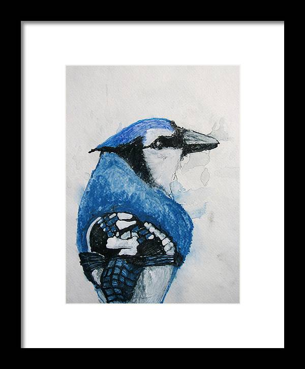 Watercolor Framed Print featuring the painting Sentimental Blue by Patricia Arroyo