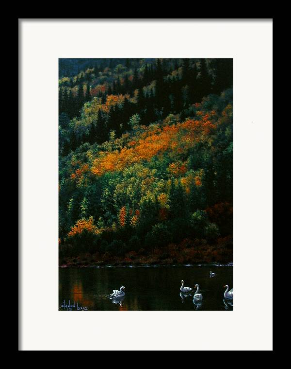Scenic Framed Print featuring the painting Sentinels Of September Serenity by Stephen Lucas