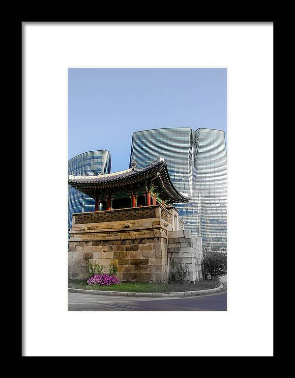 Asia Framed Print featuring the photograph Seoul, Old And New by Peteris Vaivars