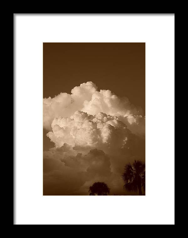 Sepia Framed Print featuring the photograph Sepia Clouds by Rob Hans