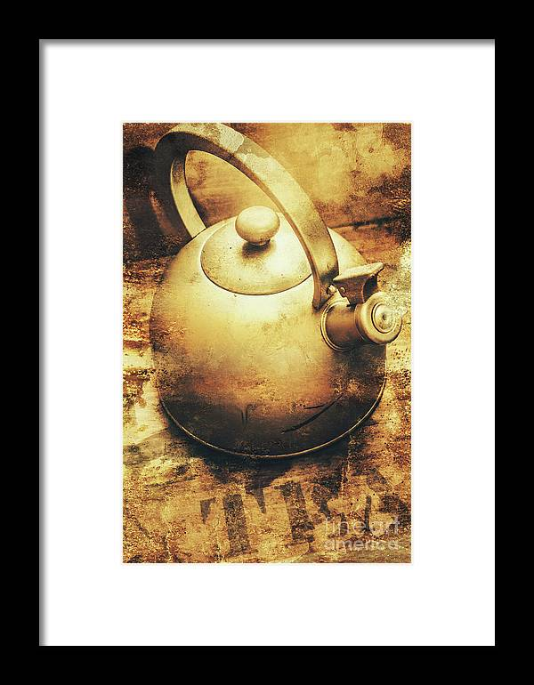 Sepia Toned Old Vintage Domed Kettle Framed Print by Jorgo ...
