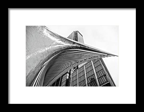 New York Framed Print featuring the photograph September 11 Memorial by Lamyl Hammoudi