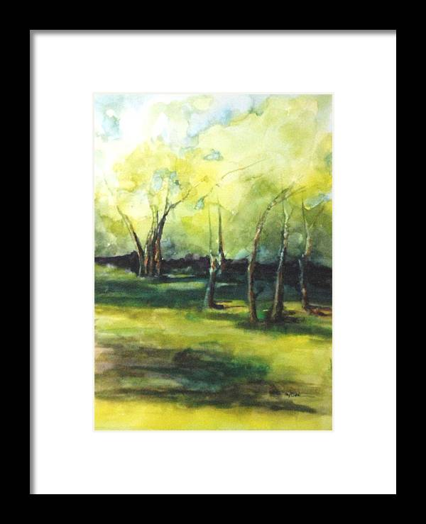 Trees Framed Print featuring the painting September At Mac O Cheek by Donna Pierce-Clark