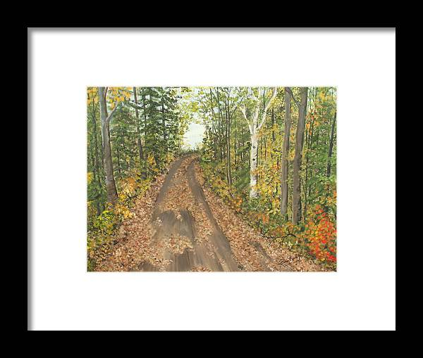 Trees Framed Print featuring the painting September by Bev Neely