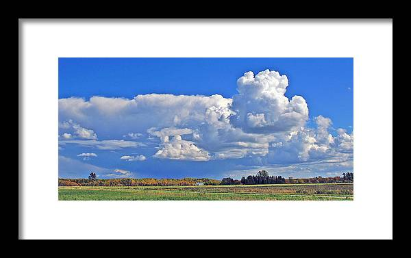 Landscape Framed Print featuring the photograph September Clouds by Bill Morgenstern