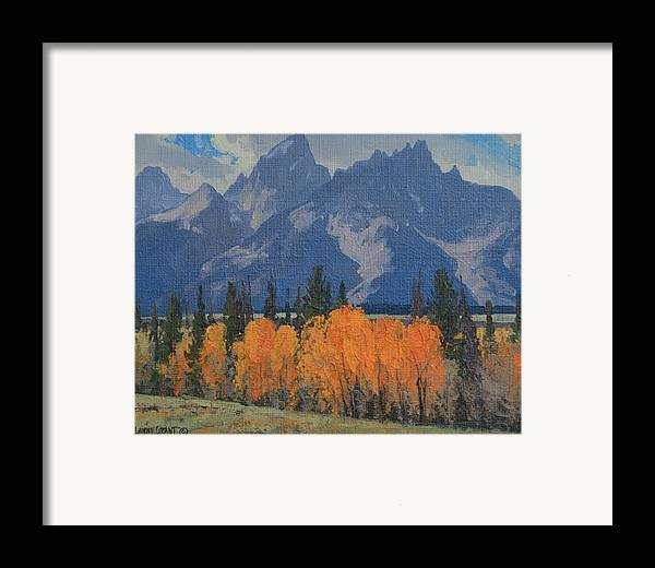 Landscape Framed Print featuring the painting September Glow by Lanny Grant