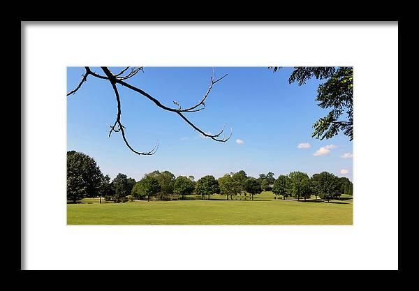 Park Framed Print featuring the photograph September In Deibert Park by Kathy K McClellan