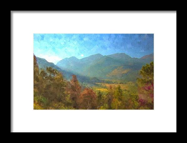 Rocky Mountain Art Framed Print featuring the painting September In The Rockies by Trula Walker