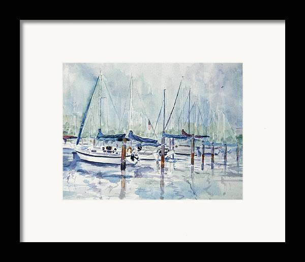Marina Framed Print featuring the painting September Mourning by Ruth Mabee