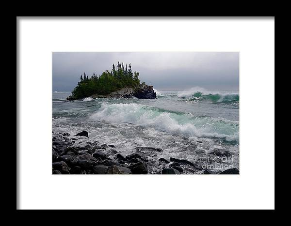 Lake Superior Framed Print featuring the photograph September Storm by Sandra Updyke
