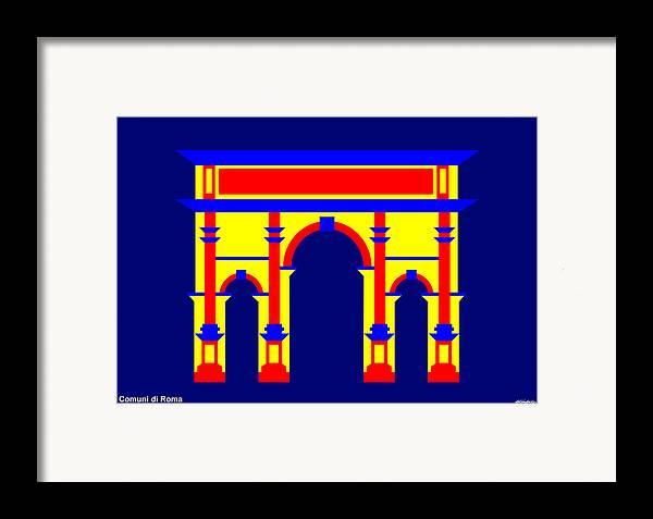 Framed Print featuring the digital art Septimus Severus by Asbjorn Lonvig
