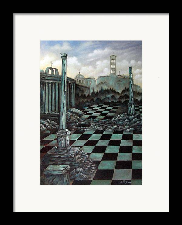 Surreal Framed Print featuring the painting Sepulchre by Valerie Vescovi